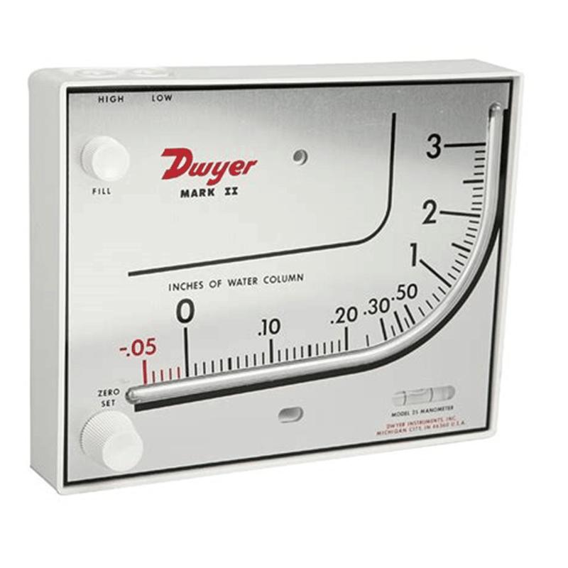 DWYER-Mark-II-25-Manometro-Inclinado - GP Metrologia e Instrumentacion | Medición y Control de Fluídos